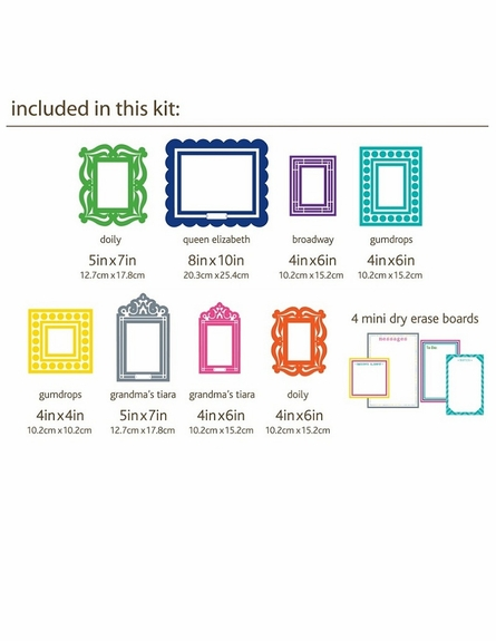 Multicolor Wall Sticker Frame Set