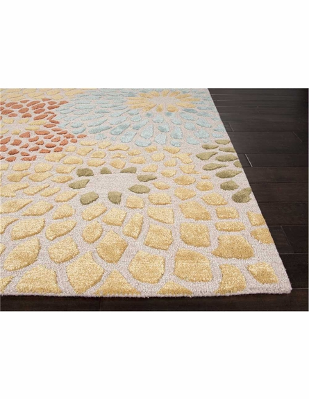 Mumford Floral Rug in Ivory