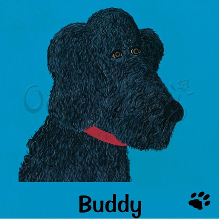 Musette Poodle Personalized Canvas Wall Art