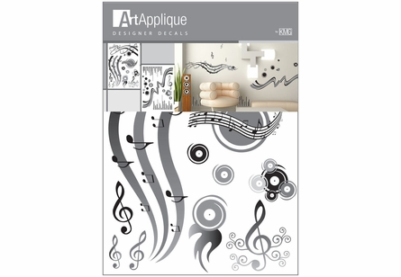 Music Gray Wall Decals