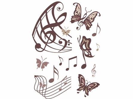 Musical Butterflies Wall Decals
