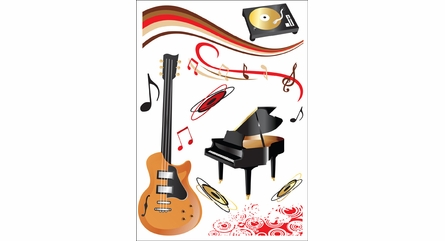 Musical Instruments Wall Decals