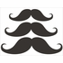 Mustache Chalkboard Wall Decal - Set of 3