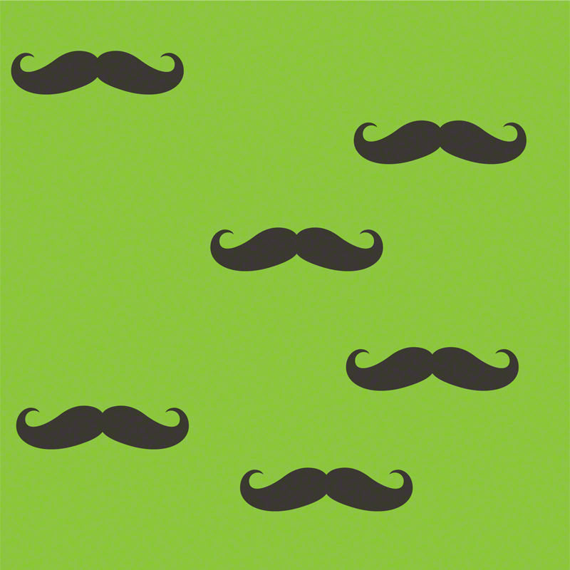 mustache removable wallpaper by wallcandy arts