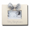 My Baptism Cream Picture Frame