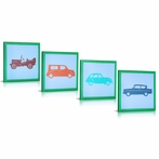 My Cars Canvas Wall Art - Set of 4