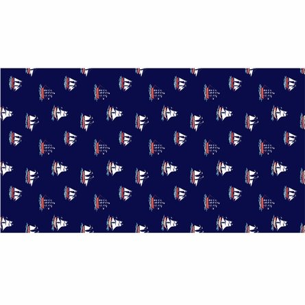 My Favorite Ship Removable Wallpaper in Navy