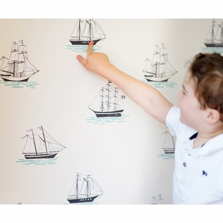 My Favorite Ship Removable Wallpaper in White