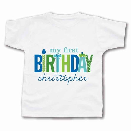 My First Birthday Personalized T-Shirt