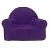 My First Chair in Purple Microsuede