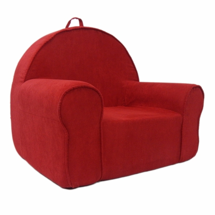 My First Chair in Red Microsuede