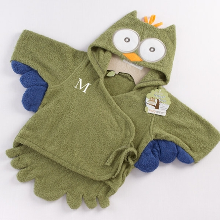 My Little Night Owl Terry Robe in Green