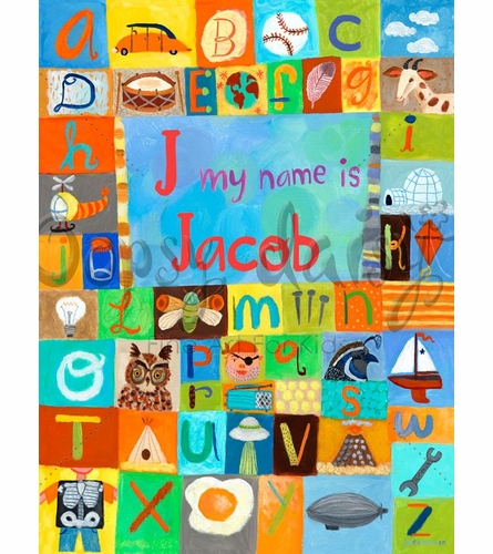 My Name Is (Boy) Canvas Wall Art