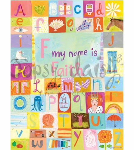 My Name Is (Girl) Canvas Wall Art
