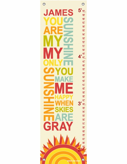 My Only Sunshine Rainbow Growth Chart