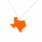 My State Acrylic Pendant Necklace