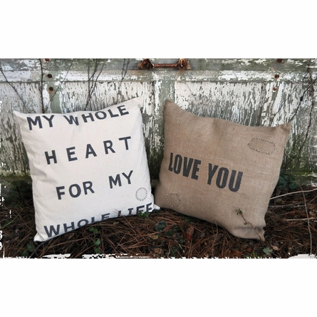 My Whole Heart Canvas Pillow