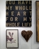 My Whole Heart Hand Painted Antique Sign