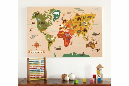My World Jumbo Wood Panel Art Print