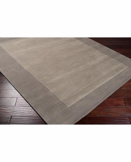 Mystique Border Rug in Gray