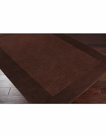Mystique Border Rug in Mocha