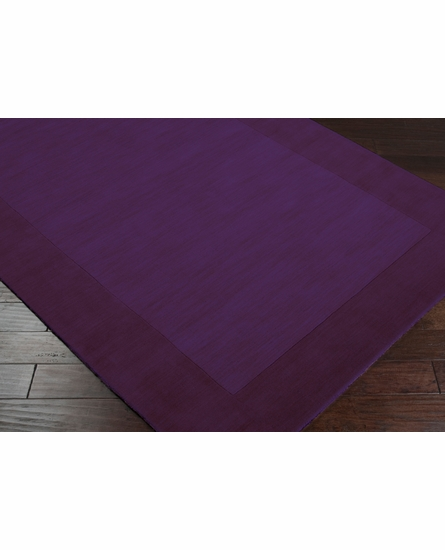 Mystique Border Rug in Plum