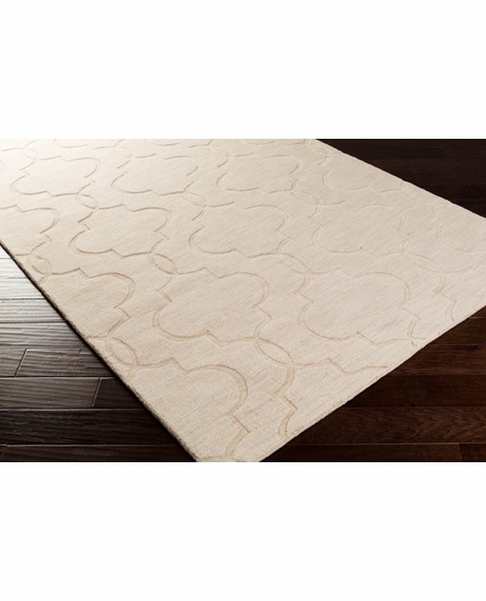 Mystique Double Lattice Rug in Ivory