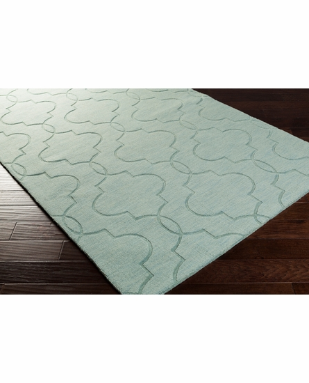 Mystique Double Lattice Rug in Moss