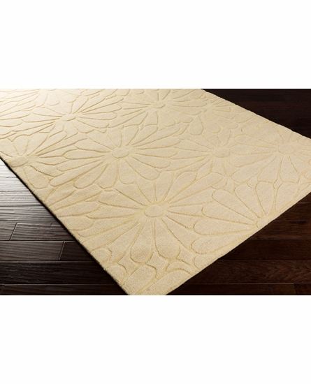 Mystique Floral Rug in Butter