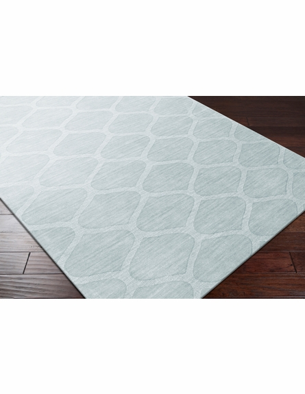 Mystique Lattice Rug in Moss Gray