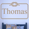 Name Rope Frame Personalized Wall Decal