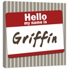 Name Tag in Red Canvas Reproduction