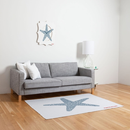 Nantucket Starfish Flat Weave Rug