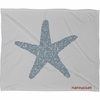 Nantucket Starfish Fleece Throw Blanket