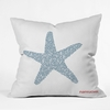 Nantucket Starfish Throw Pillow