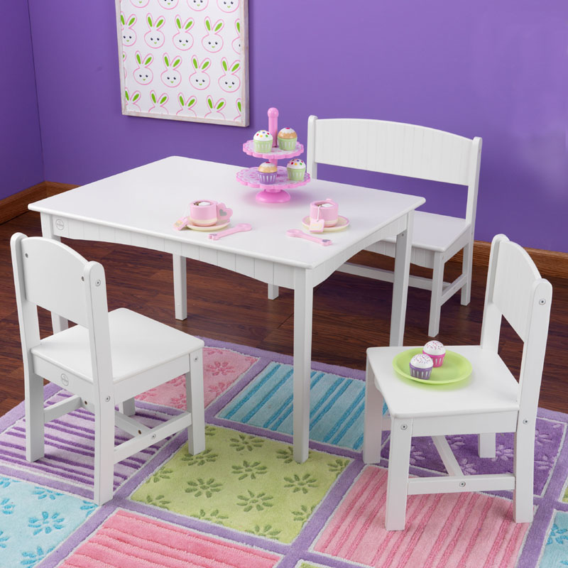 Nantucket Table With Bench And 2 Chairs By Kidkraft