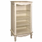 Narrow French Bookcase in Versailles Creme