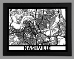 Nashville Framed City Map