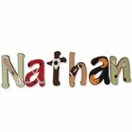 Nathan Sports Hand Painted Wall Letters