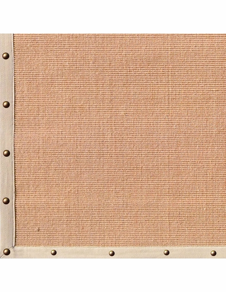 Natural Beige Stud Border Rug