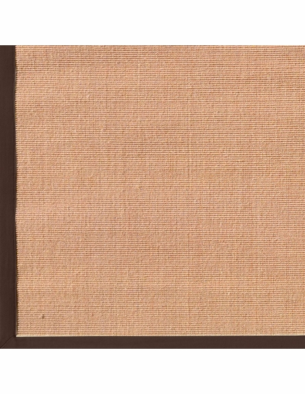 Natural Brown Plain Border Rug