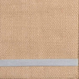 Natural Burlap with Bluewash Trim - A