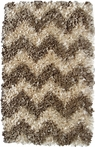 Natural Chevron Shaggy Raggy Rug