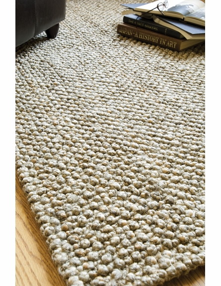 Natural Knobby Loop Braided Rug