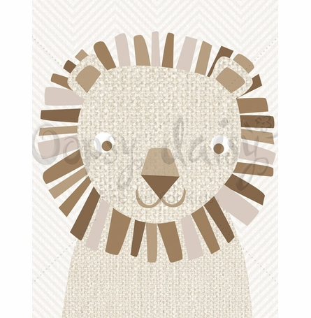 Natural Lion Canvas Wall Art