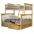 Natural Maple Classic Arch Slatted Bunk Bed