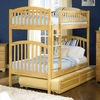 Natural Maple Modern Curved Slatted Twin Bunk Bed