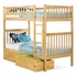 Natural Maple Modern Slatted Bunk Bed