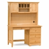 Natural Maple Traditional Desk with Hutch