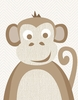Natural Monkey Canvas Wall Art